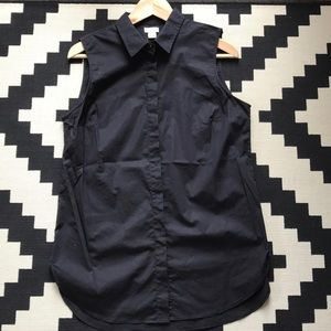 J. Crew Sleeveless Dress Shirt Tunic